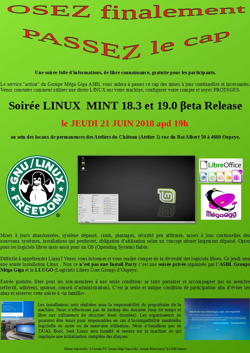 Affiche Linux 21 juin 2018 verde