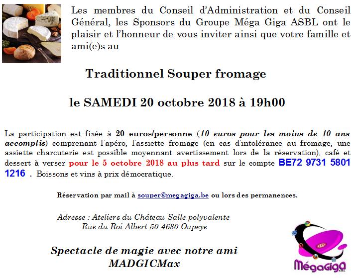 souper fromage 2018 INVITATION